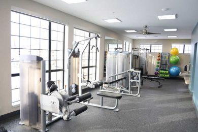 Lamphouse resident fitness area